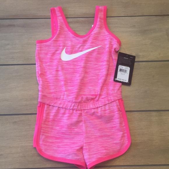 56f63e63b1a5 Summer Sale ⛱ Nike Dri Fit Girls Pink Romper